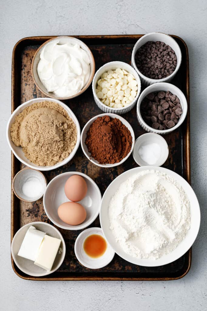 The ingredients for making Chocolate Cookies
